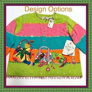 Sweaters - DESIGN OPTIONS NWT South Beach Cardigan Sz M